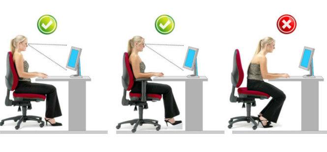 Do ngồi quá lâu hoặc ngồi sai tư thế